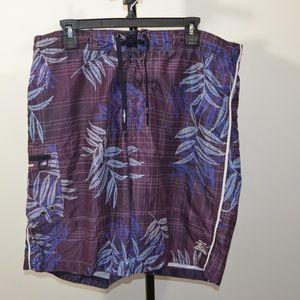 ZeroXposur Large Swim Trunks Shorts Purple Tropica
